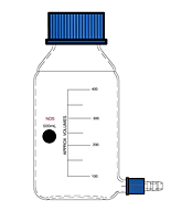 1517 Bottle, Aspirator, Removable Hose Connection, PBT Cap - Manufactured by NDS Technologies, Inc.