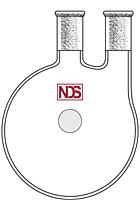 4008 Flask, Round Bottom, Two Neck, Heavy Wall - Manufactured by NDS Technologies, Inc.