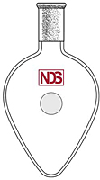 4022 Flask, Pear Shaped - Manufactured by NDS Technologies, Inc.
