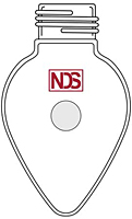 4023 Flask, Pear Shaped, Threaded - Manufactured by NDS Technologies, Inc.