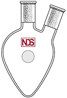 4024 Flask, Pear Shaped, Two Neck, Angled - Manufactured by NDS Technologies, Inc.