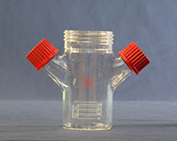 7706-Series Spinner Flask Only, Flat Bottom - Manufactured by NDS Technologies, ndsglass.com
