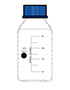 1516 Bottle, Media Storage, High Temp PBT Autoclavable Cap - Manufactured by NDS Technologies, Inc.