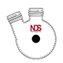 4011 Flask, Round Bottom, Angled Two Neck, with GL Threads - Manufactured by NDS Technologies, Inc.