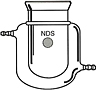 4032 Flask, Reaction, Cylindrical, Jacketed - Manufactured by NDS Technologies, Inc.